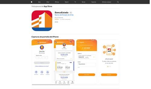 App banco estado desde app store