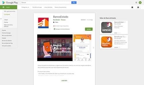 App banco estado desde play store