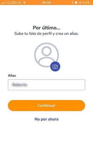 ingresar un alias app bancoestado