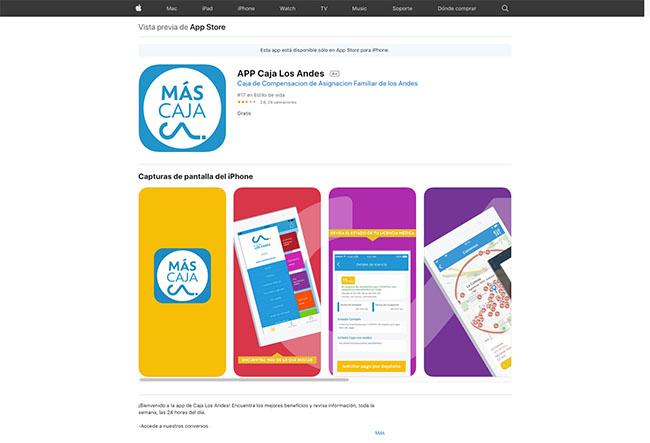 descargar app caja los andes iphone ios