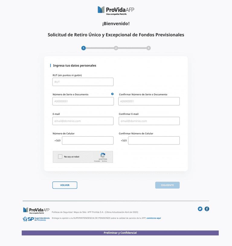 formulario para solicitar el 10% del ahorro previsional